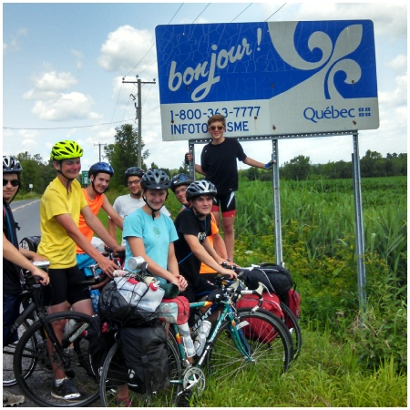 Teen Treks New York City to Montreal trek crosses the International border between New York State and Quebec