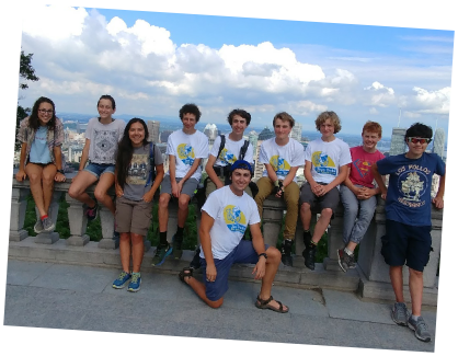 Teen Treks New York City to Montreal trek bicycling group picture